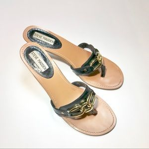 STEVE MADDEN Black Blaynne Heels, size 8.5